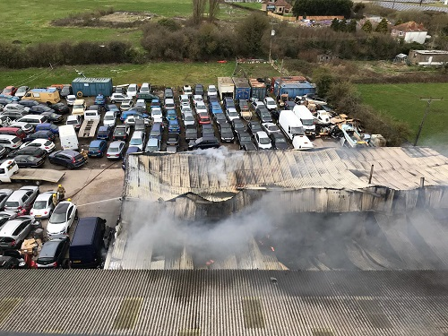 Man injured in Winterbourne car workshop fire