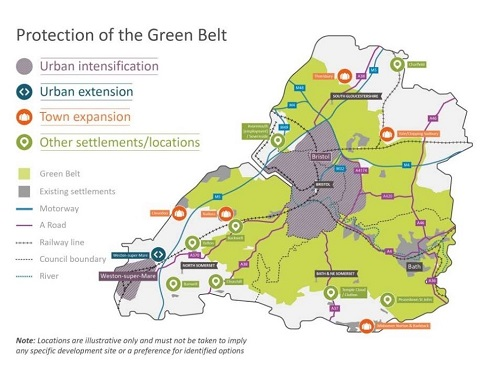 Green belt map