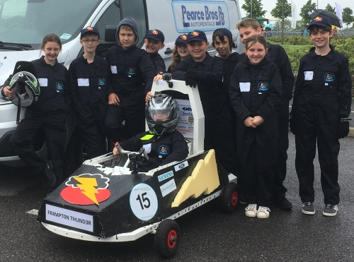 Frampton school's electric racing team thunders on to the track