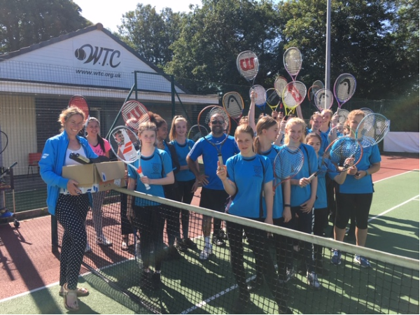 Winterbourne Tennis Club helps girls into the sport