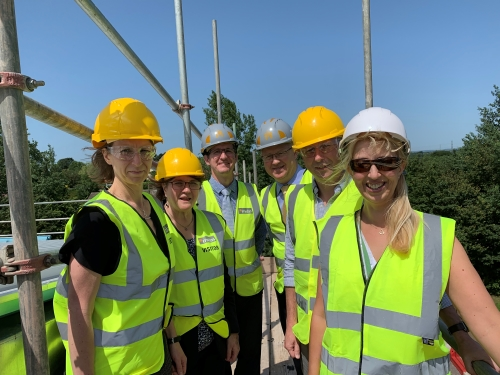 New Frampton school building reaches high point