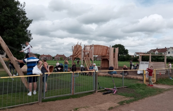 Frampton Cotterell's new play area is up and running