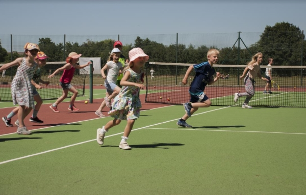 Children 'buzzing with energy' at tennis camp