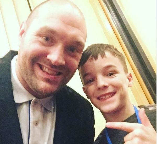 Alfie Haile with Tyson Fury