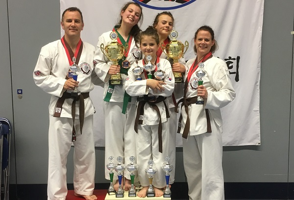 Medals show that martial arts skill runs in this family