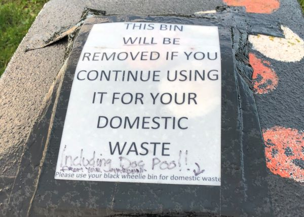 Warning over misuse of bins in Frampton Cotterell
