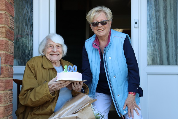 Winterbourne great grandmother celebrates her 100th birthday on the doorstep with socially-distanced party
