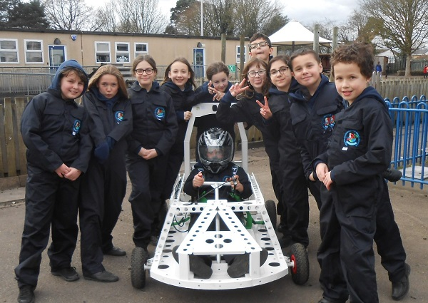 Frampton Cotterell school's electric car takes to the playground to beat coronavirus lockdown