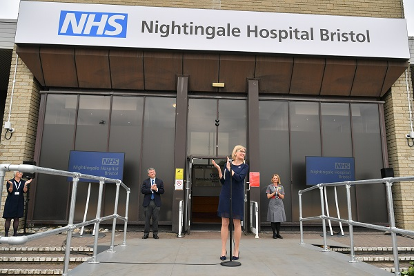 NHS Nightingale Hospital Bristol opens with up to 300 beds available for coronavirus patients