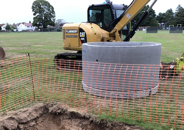 Frampton Cotterell park drainage work gets underway