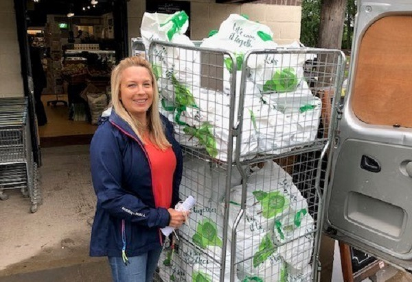 Frampton farm shop's link up with city charity helps feed families during lockdown