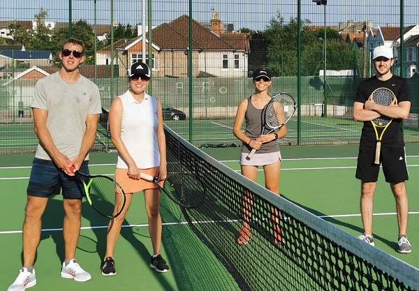 Win over Kings in the heat for Winterbourne Tennis Club mixed doubles