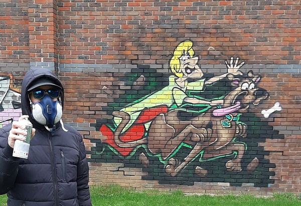 Zoinks! Why Scooby Doo and Shaggy are bursting through a wall in Winterbourne