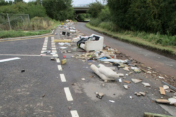 'Brazen' fly-tipping on country road by waste clearance business run from Facebook page