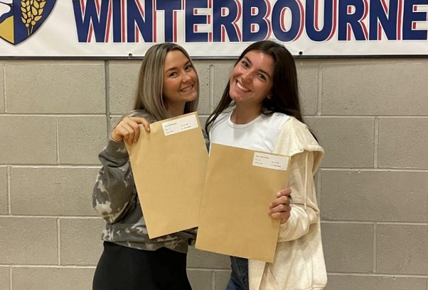 Pride in achievements of Winterbourne Academy A-level students