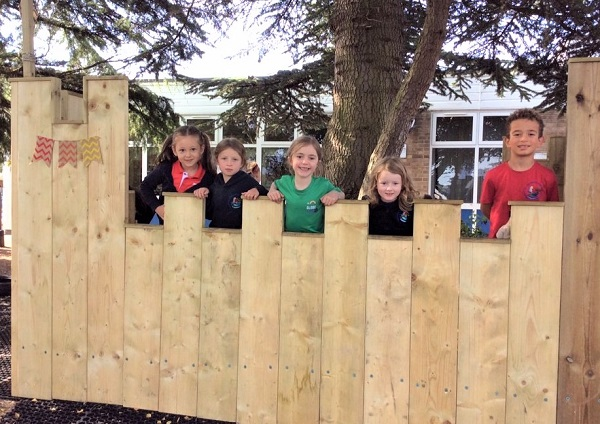 Castle helps transform outdoor space at Frampton Cotterell school